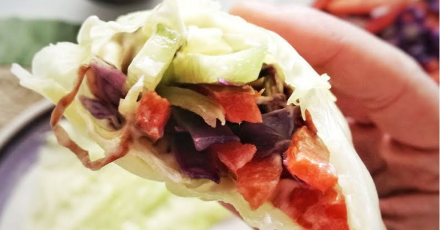 Raw Vegan Roll con Maionese di Wasabi