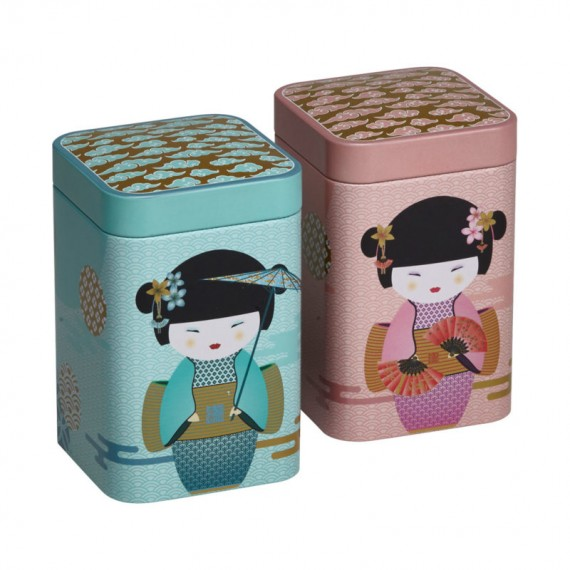 New Little Geisha, scatole in latta da 100g