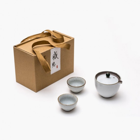 Gaiwan in porcellana con due tazze