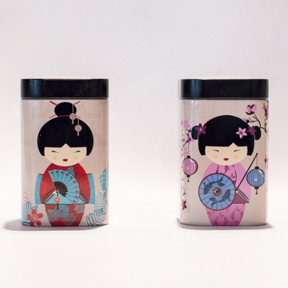 Scatole porta tè Geisha