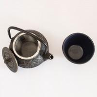 Teiera in ghisa giapponese più tazza