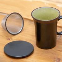 """Tisaniera in porcellana Zen con filtro """"Verde acqua"""""""