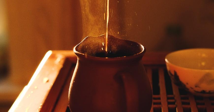 preparazione cerimonia del tè cinese