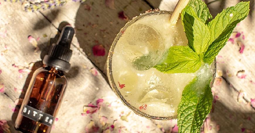 cocktail menta e lavanda
