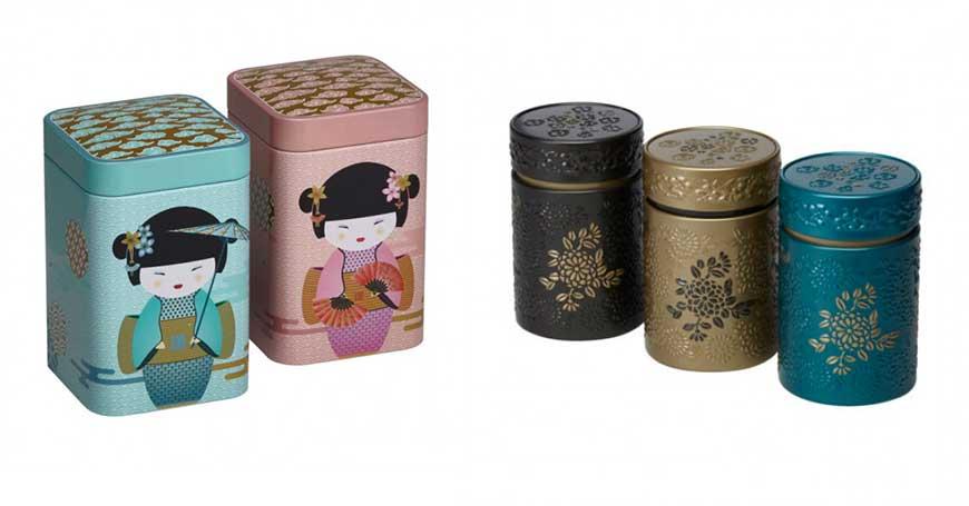 scatole per conservare tisane e tè