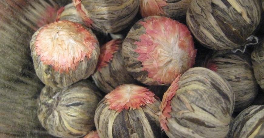 fiori di tè essiccati