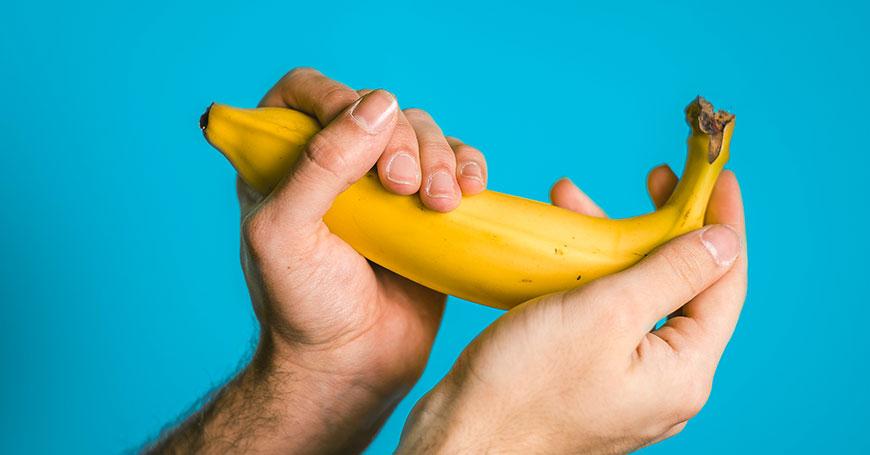 banana come metafora per erbe afrodisiache per uomo