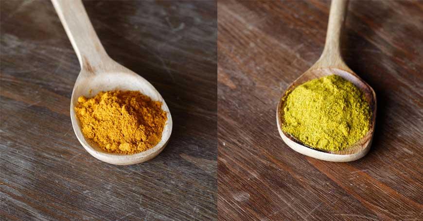 sostituire il sale con il curry